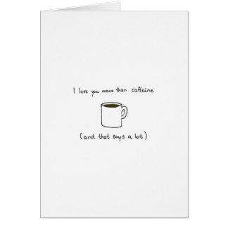 Charming coffee Valentines day card