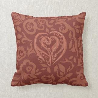 Charming Copper ~Valentines~ Dark Pillow
