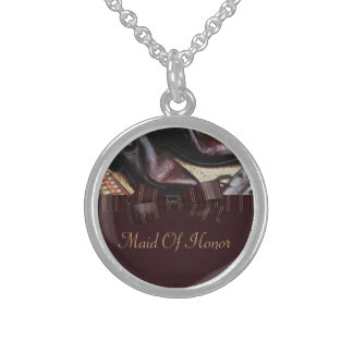 Charming Country Wedding Round Pendant Necklace