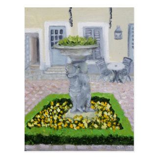 Charming courtyard in FRANCE Postcard