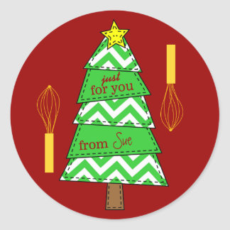 Charming Customized Chevron Christmas Gift Tags Stickers