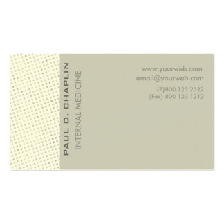 Charming Cutting Edge Soft Pale Colors Business Card