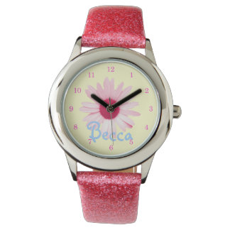 """Charming Daisy"" Custom Girl's Watch"
