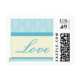 Charming Damask Love Stamps :: aqua