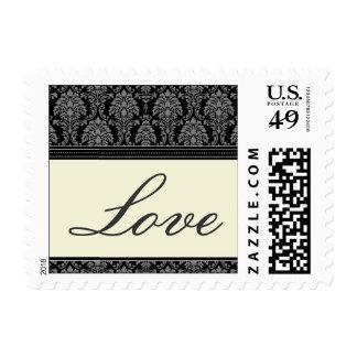 Charming Damask Love Stamps :: black
