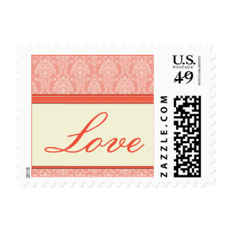 Charming Damask Love Stamps :: coral