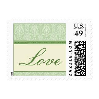 Charming Damask Love Stamps :: hunter green