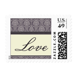 Charming Damask Love Stamps :: plum