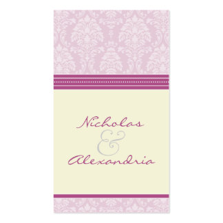 Charming Damask Wedding Web Card (violet/ivory) Double-Sided Standard Business Cards (Pack Of 100)