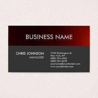 Charming Dark Red Grey Plain Modern Business Card