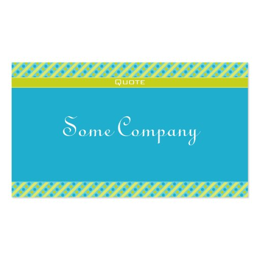 Charming Dots And Stripes Collection (Green) Business Card Template