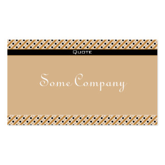 Charming Dots And Stripes (Hot Cocoa) Double-Sided Standard Business Cards (Pack Of 100)