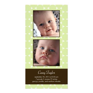 Charming Dots Baby Birth Announcement Photo Card