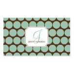 Charming Dots Business Cards - Blue/Brown Business Cards