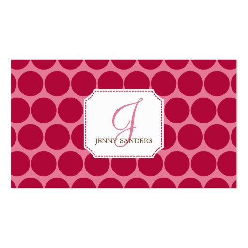 Charming Dots Business Cards - Red/Pink