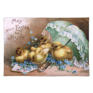 Charming Easter Chicks Cloth Placemat