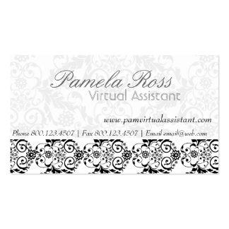 Charming Elegant Modern  Royal Damask Double-Sided Standard Business Cards (Pack Of 100)
