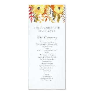 Charming Fall Wedding Program