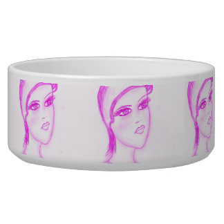 Charming Flapper in Hot Pink Bowl