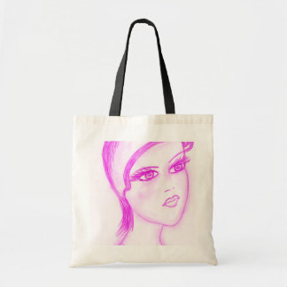 Charming Flapper in Hot Pink Tote Bag