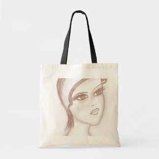 Charming Flapper in Sepia Tote Bag