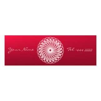 Charming Floral Mandala Business Card