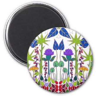 Charming floral pattern 2 inch round magnet