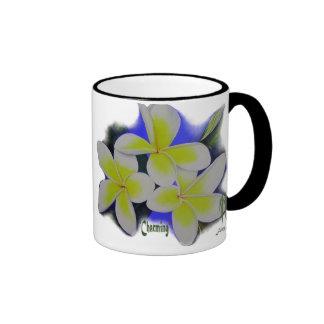'Charming'- frangipani Ringer Mug