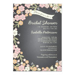 Charming Garden Floral Wreath Bridal Shower Personalized Invitation