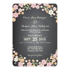 Charming Garden Floral Wreath II Wedding 5x7 Paper Invitation Card at Zazzle