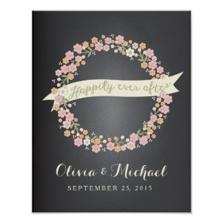 Browse our Collection of Wedding Posters and personalize by color, design, or style.