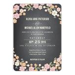 "Charming Garden Floral Wreath Wedding Invitation 5"" X 7"" Invitation Card"