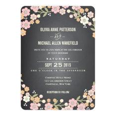 "Charming Garden Floral Wreath Wedding Invitation 5"" X 7"" Invitation Card at Zazzle"