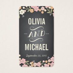 Charming Garden Wreath Wedding Seating Favor Tag at Zazzle
