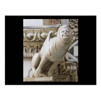 Charming Gargoyle on Medieval Buildings Postcard