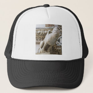 Charming Gargoyle on Medieval Buildings Trucker Hat
