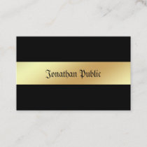 Charming Glamour Black And Gold Professional Business Card