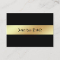 Charming Glamour Black Gold Elegant Trendy Luxury Business Card