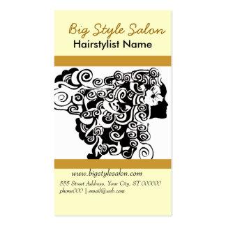 Charming Hair Silhouette   Spa Business Card