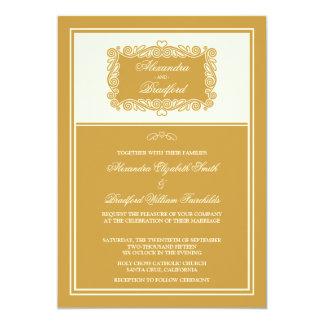 Charming Heart Frame Wedding Invitation (gold)