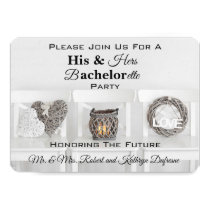 Charming His & Hers Bachelor/Bachelorette Party Invitation