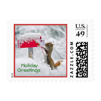 Charming Holiday Greetings Postage Stamp
