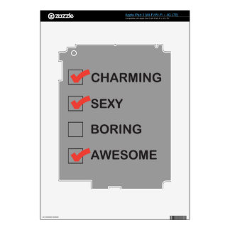 Charming iPad 3 Decal