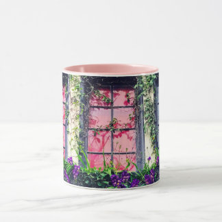 Charming Ivy & Freesia Covered Cottage Mug