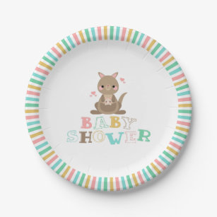 Charming Kangaroo Baby Shower Paper Plate  sc 1 st  Zazzle & Pinwheel Plates | Zazzle