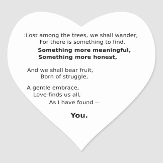 Charming Keepsakes Heart Sticker