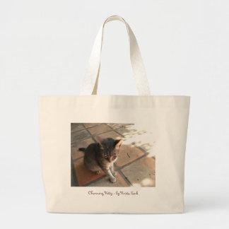 Charming Kitty Jumbo Tote Bag