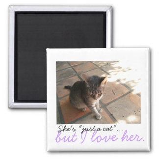 Charming Kitty; Sweet Nothings 2 Inch Square Magnet
