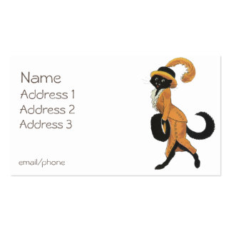 Charming Lady Cat Pack Of Standard Business Cards