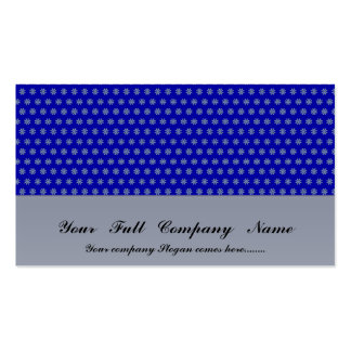 Charming light blue flowers with long heart on blu business card template